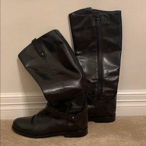 Size 10 Tory Burch riding boots black